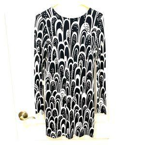 Black and white party mini dress